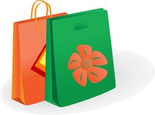 Free Shopping Bags. Vector Illustration Stock Image - 6071011