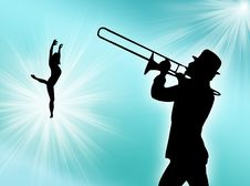 Free Player And Dancer Royalty Free Stock Image - 6071136