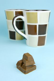 Free Milk Chocolate And Coffee Stock Photography - 6071622