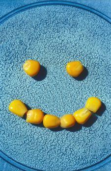 Smile Of Ripe Corns Stock Photography