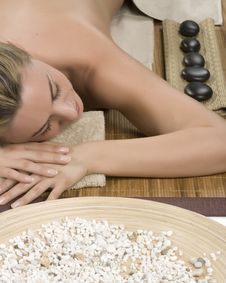 Stone Therapy In Spa Royalty Free Stock Photography