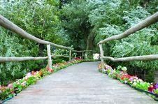 Free Wooden Decorative Bridge Stock Image - 6072201