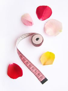 Free Diet Massband Petals Lose Weight Stock Images - 6072734