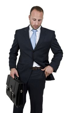 Free Businessperson With Briefcase Stock Photos - 6072933