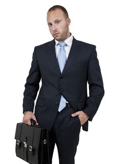 Free Executive With Leather Bag Stock Photos - 6072973