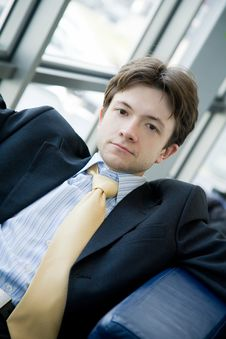 Free Portrait Of Young Businessman Stock Image - 6073001