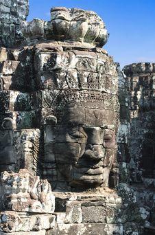 Free Angkor Thom, Cambodia: Bayon Stock Photo - 6073030