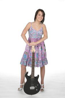 Free Cute Teen With Guitar Stock Photos - 6073113