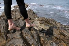 Free High Heels On The Rocks Royalty Free Stock Photography - 6073207