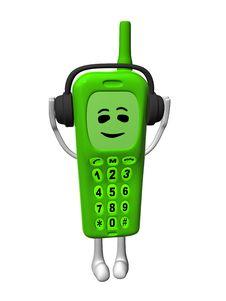 Free Green Smile Mobile Stock Image - 6073661