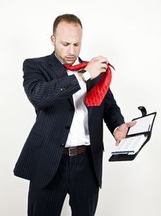 Free Businessman With Folder Royalty Free Stock Photo - 6073725