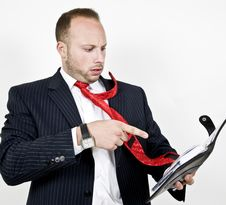 Businessman With File Royalty Free Stock Images