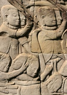 Free Khmer Warriors Royalty Free Stock Photography - 6073747