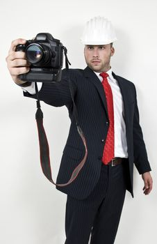 Free Engineer With Camera Stock Image - 6074701