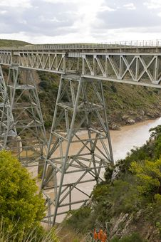 Train Bridge Over River Royalty Free Stock Photography