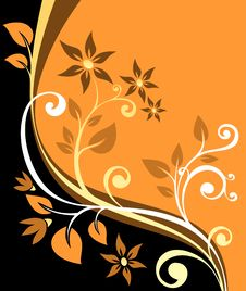 Free Orange Floral Background Stock Images - 6074964