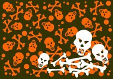Free Skulls And Bones Background Royalty Free Stock Image - 6074976