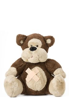 Free Teddy Bear With Bandaids Royalty Free Stock Photos - 6075038