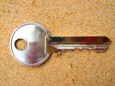 Key In Sand Stock Image