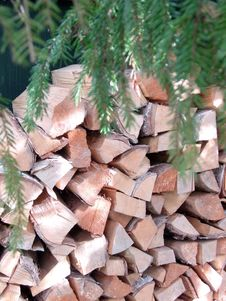 Free Woodpile Royalty Free Stock Photos - 6075438