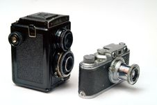Free Two Old Cameras Stock Photo - 6076090