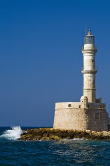 Lighthouse At Chania Royalty Free Stock Photos