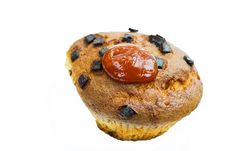 Free Chocolate Muffins With Decoration - Isolated On Wh Royalty Free Stock Photography - 6076977