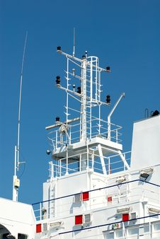 Antenna And Foremast On Ship Royalty Free Stock Images