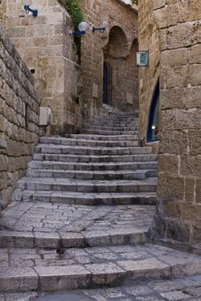 Alley In Jaffa Royalty Free Stock Photo