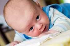 Free Newborn On Blanket Stock Images - 6078734