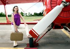 Free Woman And Airpalne Stock Photos - 6079053