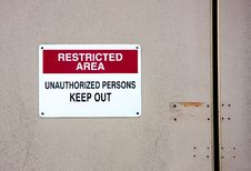Free Restricted Area Royalty Free Stock Photo - 6079635