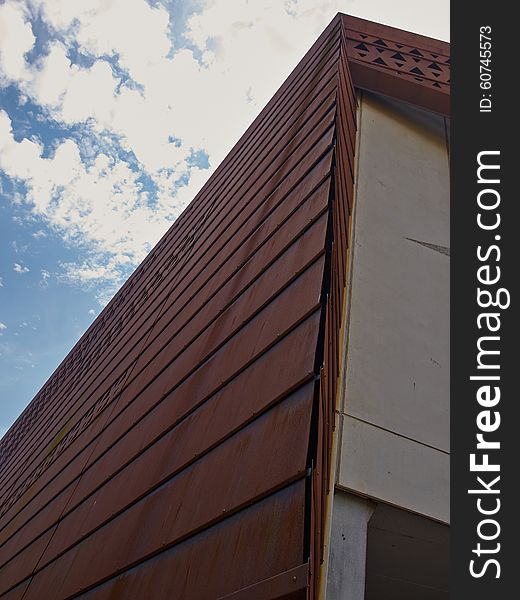 Modern design building with a rusty facade