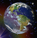 Free Abstract Earth Blue Planet In Space Stock Photo - 6082880