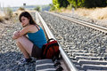 Free Backpacker Taking A Brake In The Shadow Stock Image - 6085161