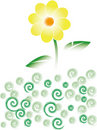 Free Yellow Flower And Green Grass Royalty Free Stock Photos - 6086418