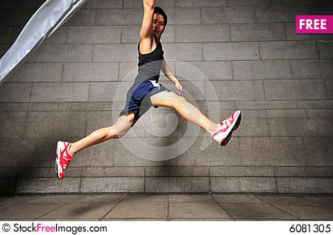 Free Man In Motion 7 Royalty Free Stock Photo - 6081305