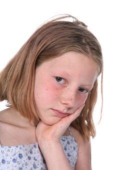 Free Freckled Sad Girl Stock Images - 6080134