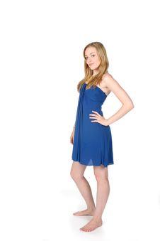 Free Pretty In Blue Stock Image - 6080231