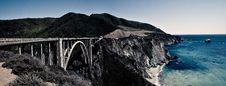 Big Sur Panorama Royalty Free Stock Photo