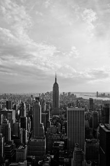 View Of Downtown Manhattan Stock Photo