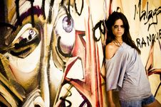 Free Young Vandal On Wall Royalty Free Stock Photos - 6080988