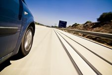 High Speed At Highway Royalty Free Stock Photos