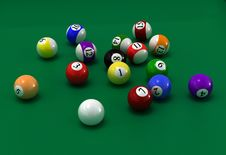 Free Billiard Balls Stock Photos - 6081513