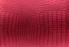 Red Reptile Leather Texture Royalty Free Stock Images
