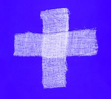 Free Two White Bandages Forming A Cross Royalty Free Stock Photos - 6082668