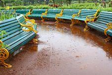 Free Bench In Garden Stock Photo - 6082890