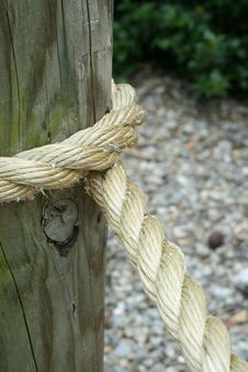 Rope Wrapped Around A Pole Stock Photography