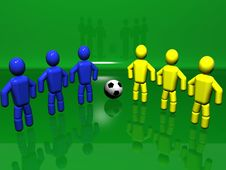 Free Two Soccer Teams Stock Images - 6084734