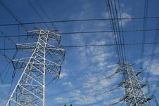 Free Electricity Power Pylon Royalty Free Stock Photo - 6084905